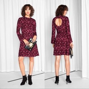 NWT & Other Stories Cut Out Leopard Print Dress